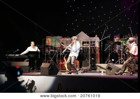 LVIL, UKRAINE - JUNE 4: Jeff Lorber Fusion in concert during Alfa Jazz Festival on June 4, 2011 in Lviv, Ukraine.