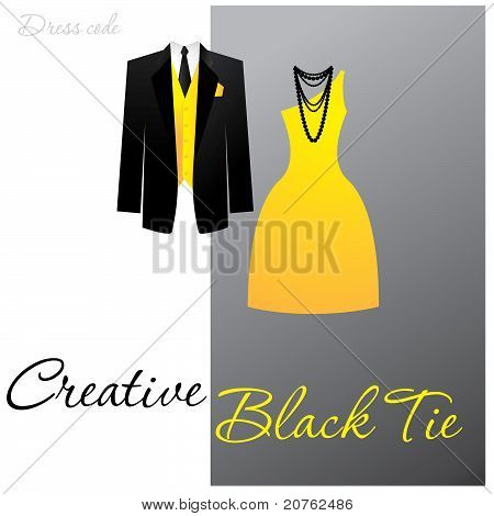 Creative-schwarz-tie