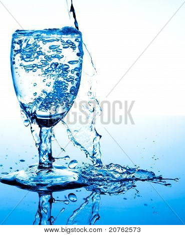 Water Splash Beside Glass