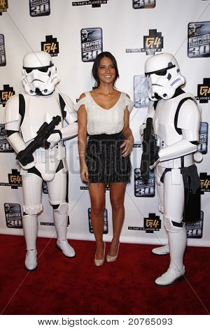 SAN DIEGO - JUL 22: Olivia Munn at the 'GPhoria Strikes Back' party hosted by G4 and Lucasfilm during Comic-Con 2010 held at the Hard Rock Hotel in San Diego, California on July 22, 2010.
