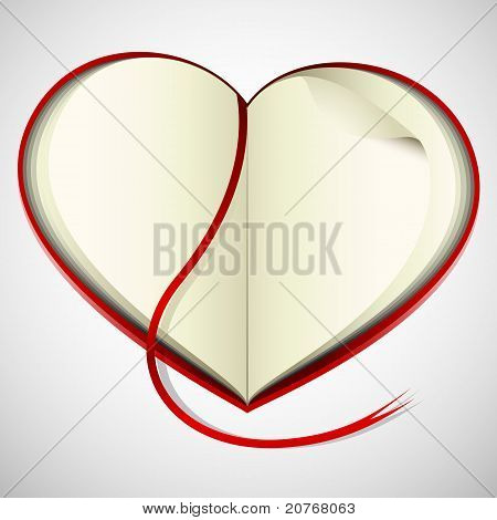 heart shape open book