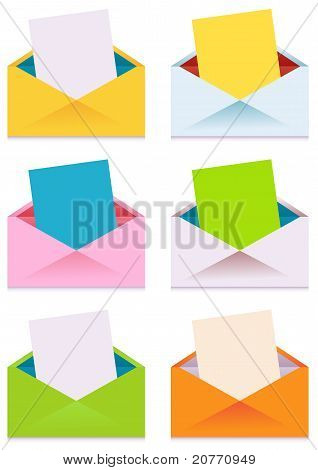 Collection Of Colorful Envelopes
