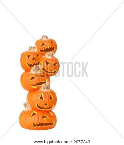 Stack Of Halloween Pumpkins