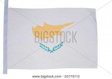Cypriot flag against a white background