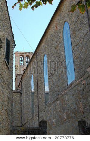 Cortona Italy church bell tower
