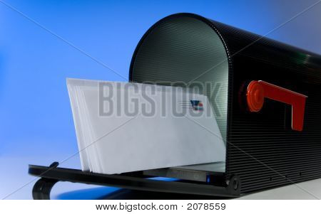 Mailbox With Blank Letter
