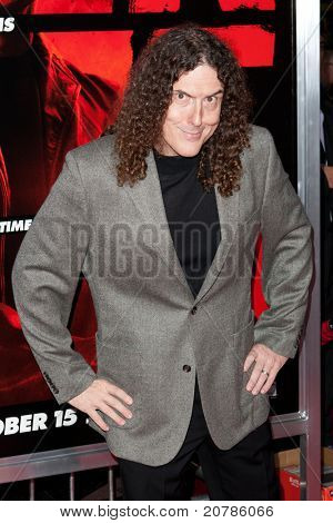 HOLLYWOOD, CA. - OCT 11: Weird Al Yankovic arrives at the Los Angeles special screening of Red at Grauman's Chinese Theatre on Oct. 11, 2010 in Hollywood, California.