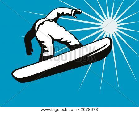 Snowboard algunos aire