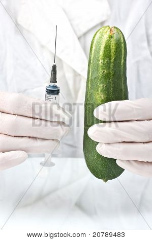 Cucumber And Syringe