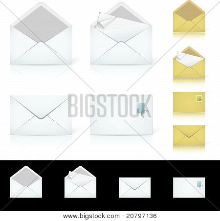 Set of different icons for e-mail