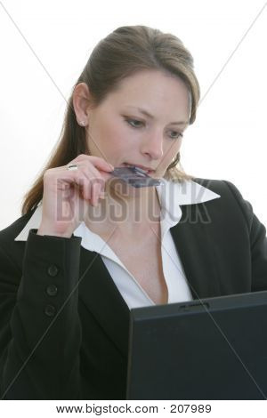 Woman Ordering Online - Shopping