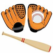 Baseball Equipment Set poster