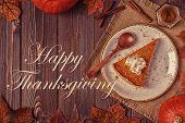 Homemade Pumpkin Pie For Thanksgiving. poster