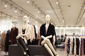 Fashionable Mannequins In Store poster