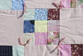 pic of scrappy  - Handmade colorful padded pattern patchwork folksy multicolored quilt - JPG