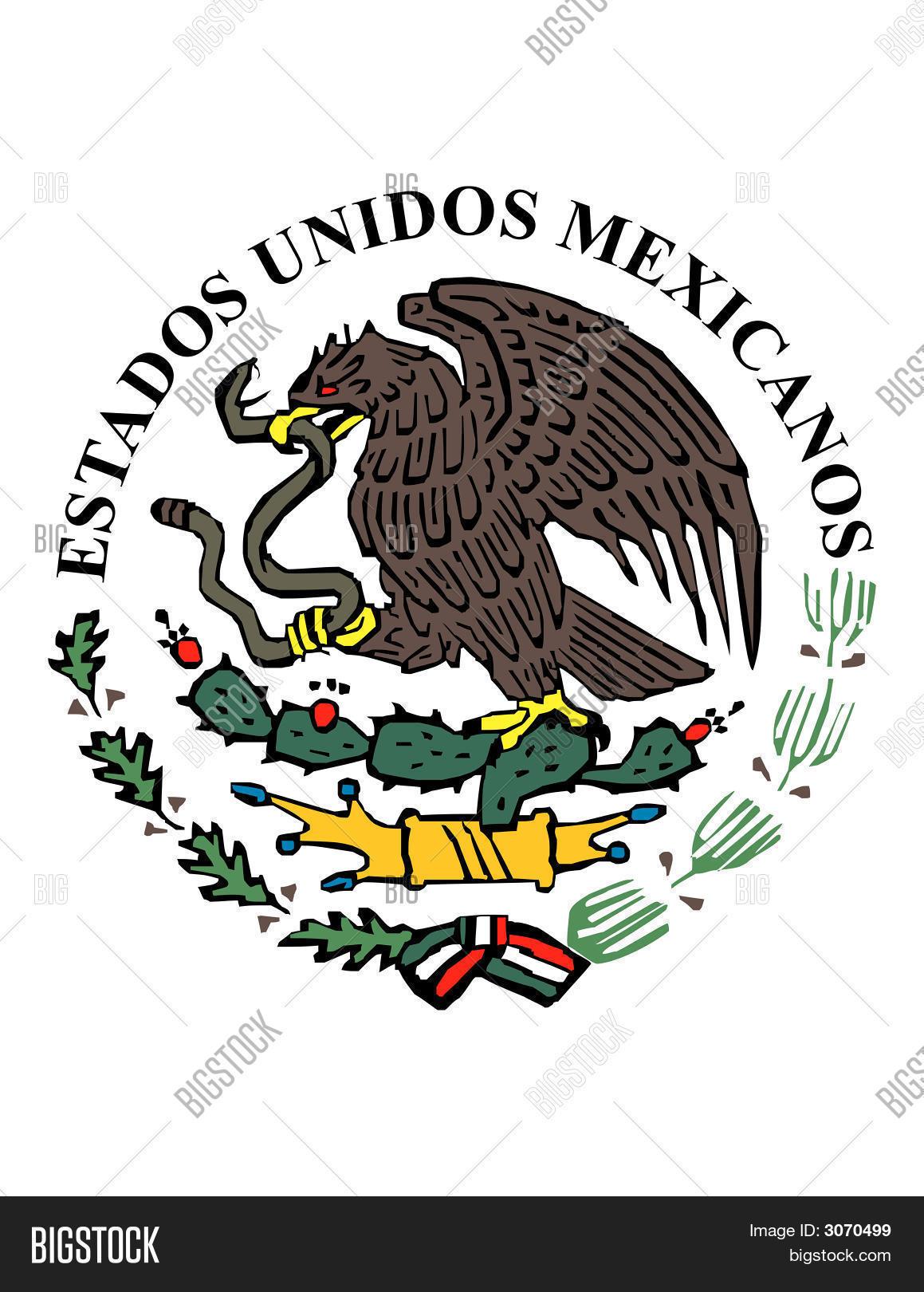 mexican flag symbol vector u0026 photo bigstock