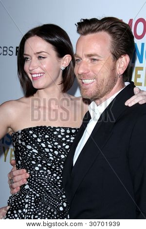 LOS ANGELES - MARCH 5: Emily Blunt; Ewan McGregor  arrives at the