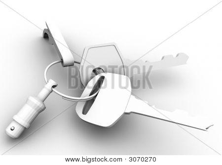 Key On White