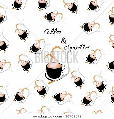 Coffee And Cigarettes Seamless Pattern