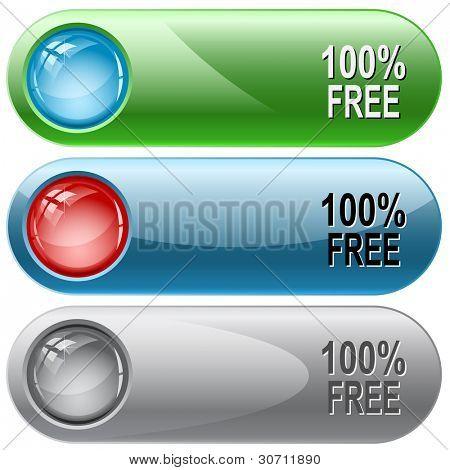 100 % kostenlos. Internet Buttons. Raster-Abbildung. Vektor Version ist in meinem Portfolio.