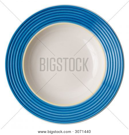 Vintage Plate (Isolated, With Clipping Path)