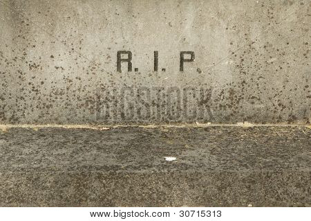 The Letters Rip On An Old Grave