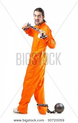 Penal túnica laranja na prisão