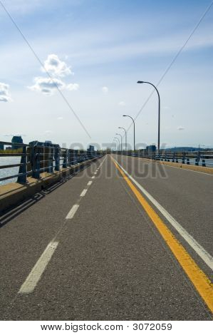 Bicycle Lane On A Bridge