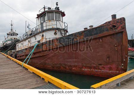 Derelict Ship Anchored