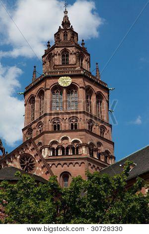 Clock Tower On German Church