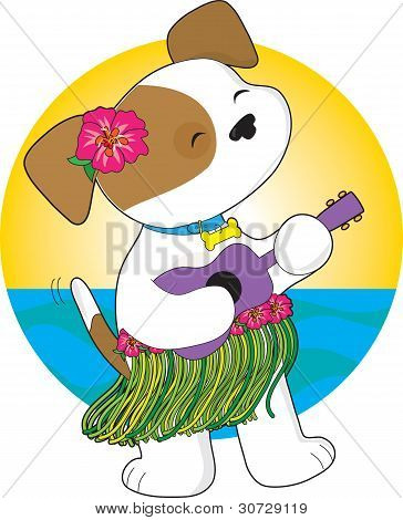 Lindo cachorro Hawaii