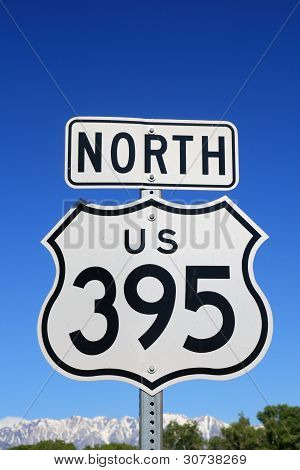 North Us 395 Sign