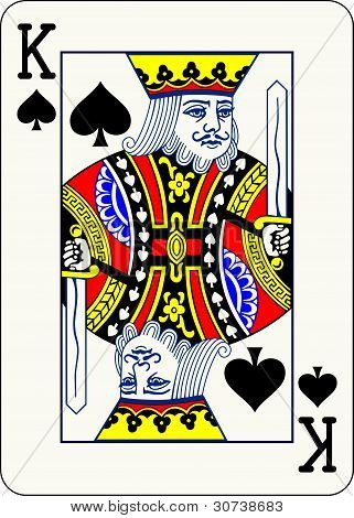 King of Spades - vector illustration of a classic playing card