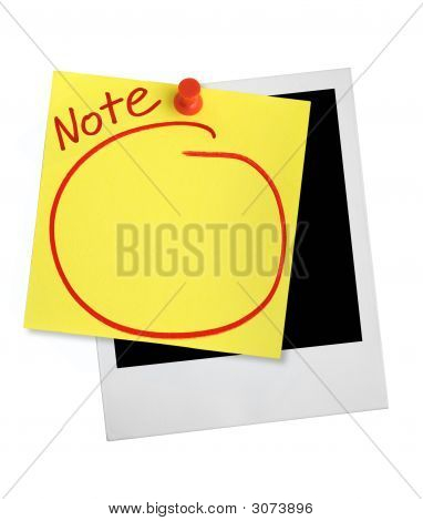 Yellow Note And Photo Frame