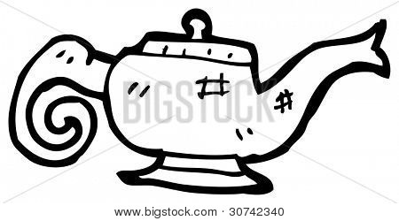cartoon magic lamp