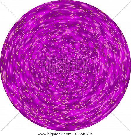 Circular Purple Star Chamber Blur