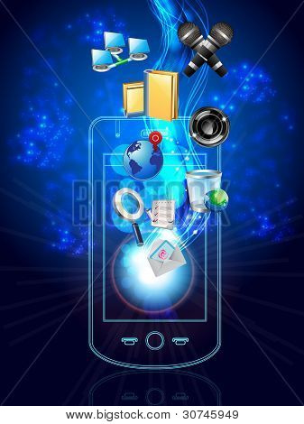 Multimedia Phone And Icons