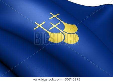 Flag Of More Og Romsdal County, Norway.