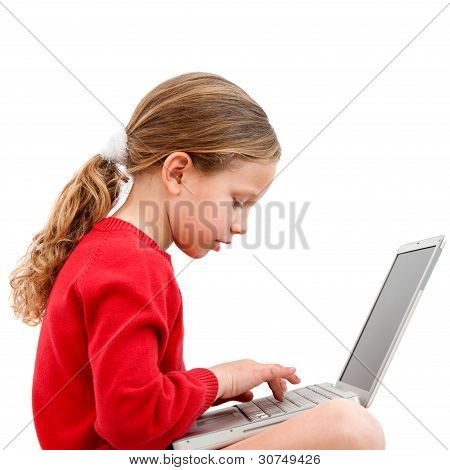 Young Student With Laptop.