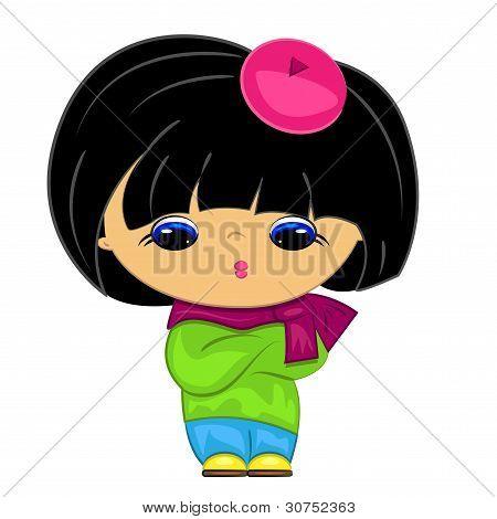 little girl. cartoon kid