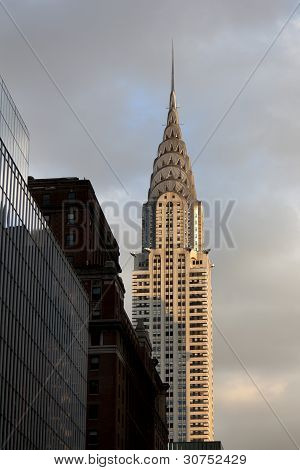 NEW YORK CITY - January 02, 2012: Chrysler Building Facade