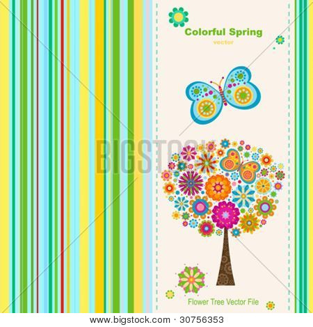 colorful spring, greeting card background