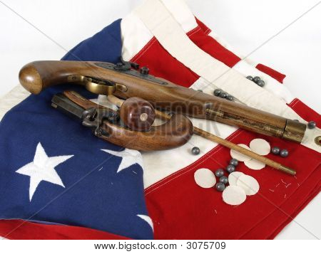 Flag And Guns
