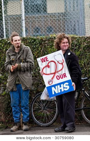 Activists From Exeter Demonstrated Outside The Royal Devon & Exeter Hospital In Protest Against Andr