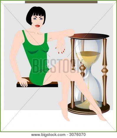 Countdown hourglass
