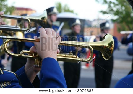 Brass Trumpet Player