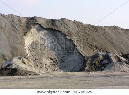 Damaged landscape after ore mining.