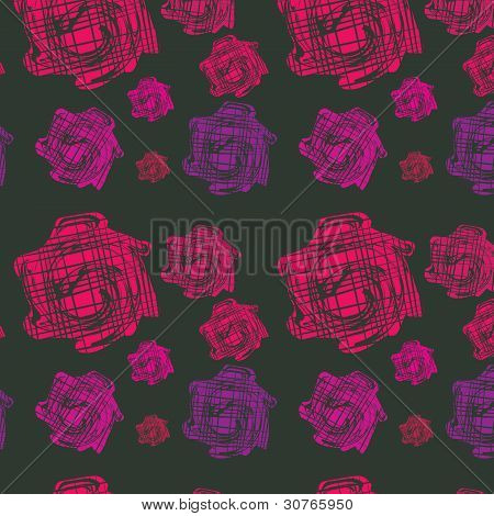Seamless Background With Bright Elements