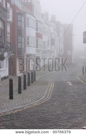 old portsmouth in fog