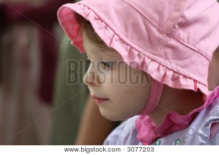 Young Girl With Pink Cap
